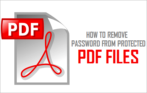 Remove Password From Protected PDF Files