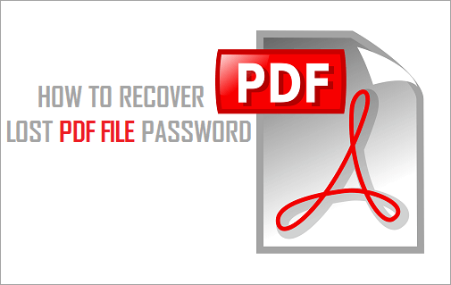 How to Recover Lost PDF File Password