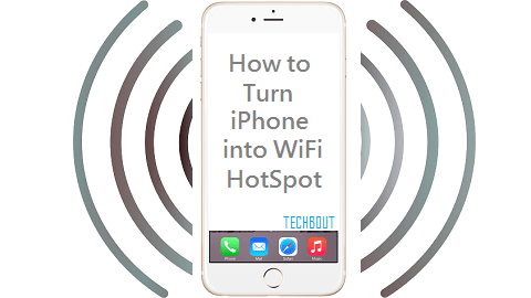 Turn iPhone into WiFi Hotspot