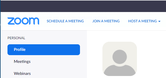 Schedule Meeting Option in Zoom