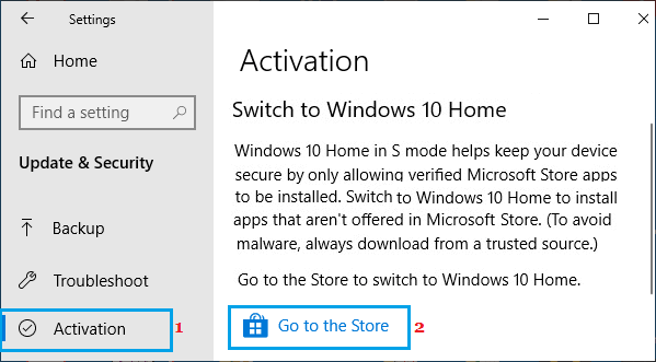 Go to Windows Store