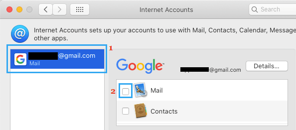 Disable Email Account on Mac
