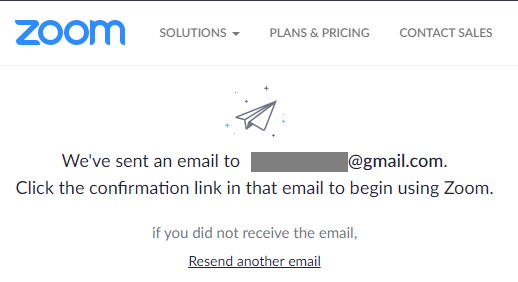 Verify Email Prompt on Zoom