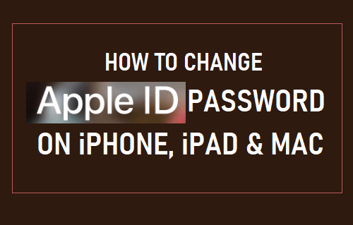 Change Apple ID Password on iPhone, iPad and Mac