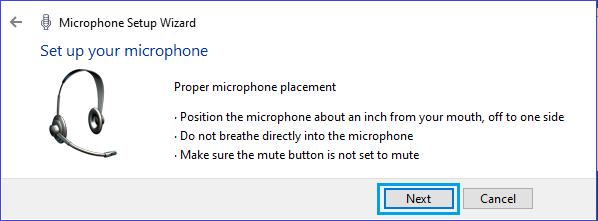 Setup Your Microphone Screen in Windows