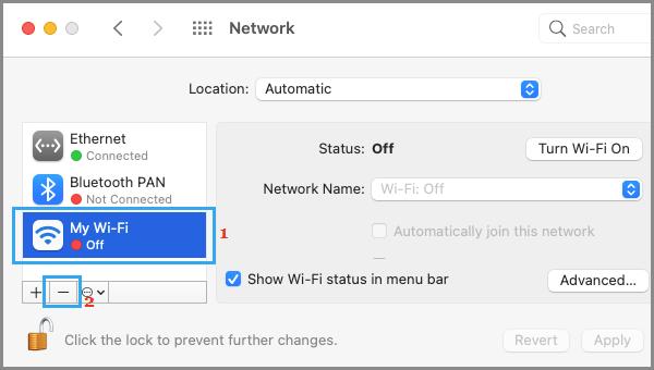 Remove WiFi Network on Mac