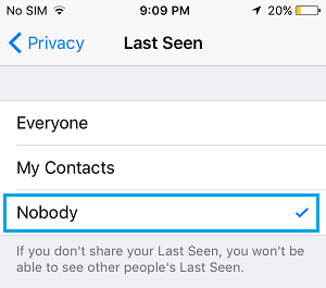 Hide WhatsApp Last Seen on iPhone
