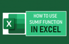 Use SUMIF Function in Excel