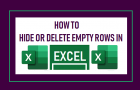 Hide or Delete Empty Rows in Excel