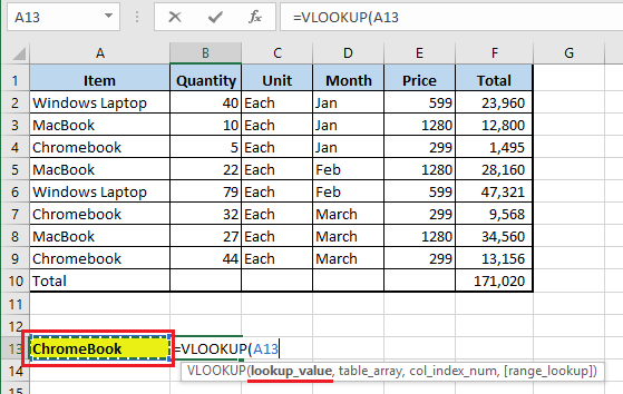 Enter Lookup Value in VLOOKUP Function