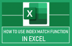 Use INDEX MATCH Function in Excel