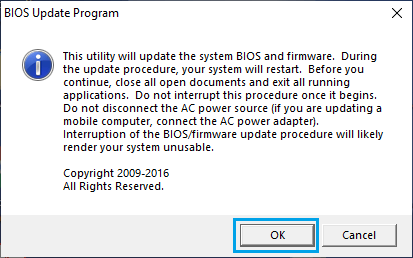 Update BIOS on Windows Computer
