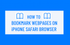 Bookmark Webpages on iPhone Safari Browser