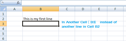 how to add another line of text in excel cell