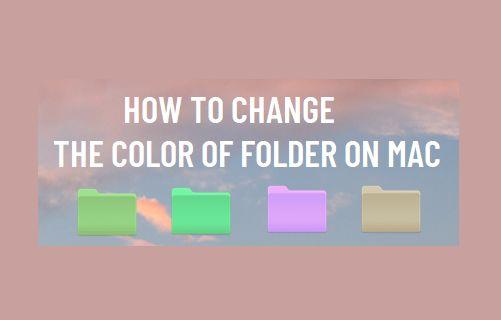 Change the Color of Folder on Mac