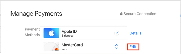 Edit Payment Information Option on Mac App Store