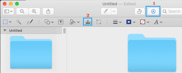 Color Editing Option in Preview App on Mac
