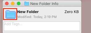Select Folder Icon On Info Screen