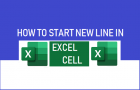 Start New Line in Excel Cell