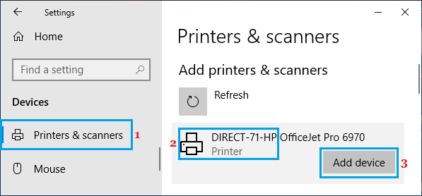 Add Printer to Windows PC