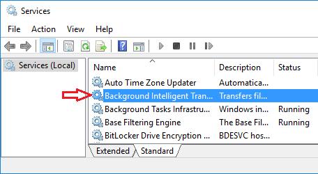 Windows BackGround Intelligent Transfer Service