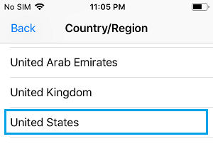 Select App Store Country on iPhone
