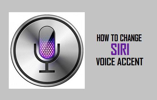 Change Siri Voice Accent