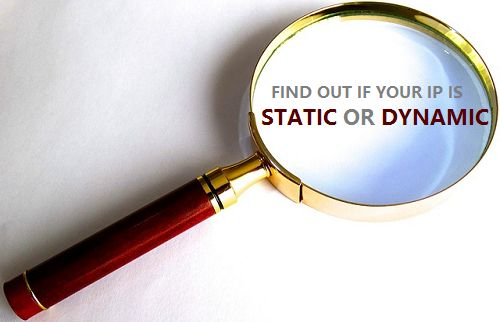 Check whether IP is Static or Dynamic