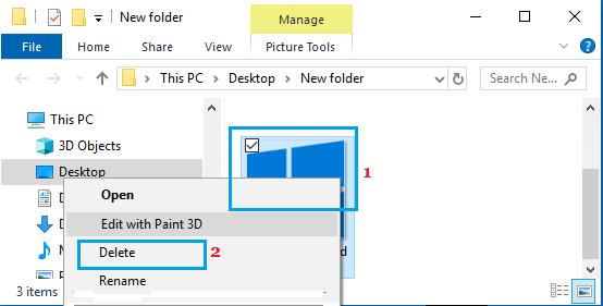 Delete Desktop Background Image