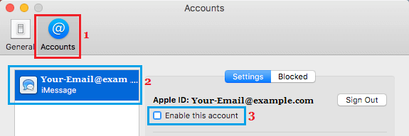Disable iMessage on Mac