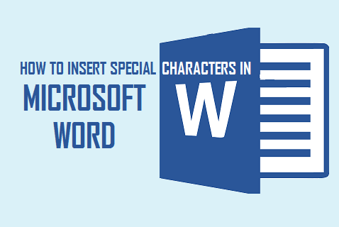 Insert Symbols In Word Documents