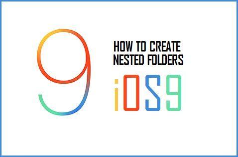 Create Nested Folders iOS 9