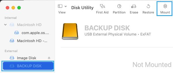 Mount External Hard Drive on Mac