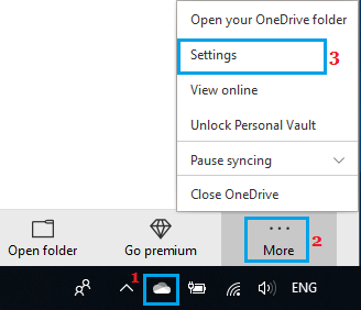 Open OneDrive Settings