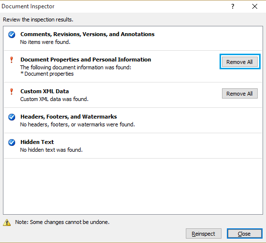 Remove Personal Information and Metadata Office 2007