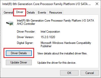 Open SATA AHCI Controller Driver Details