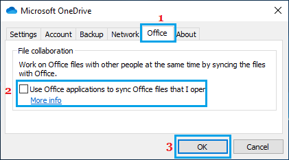 Prevent Office Files Syncing to OneDrive