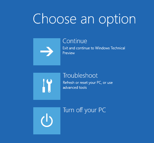 Windows 10 Boot Options