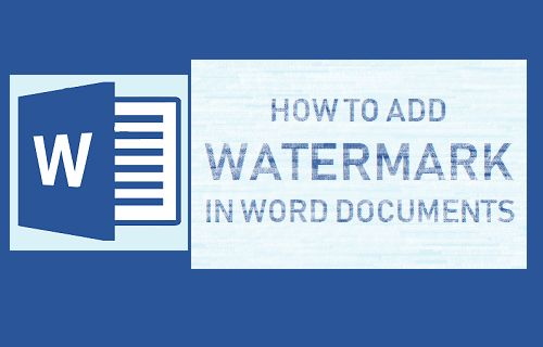 Add Watermark in Word Documents