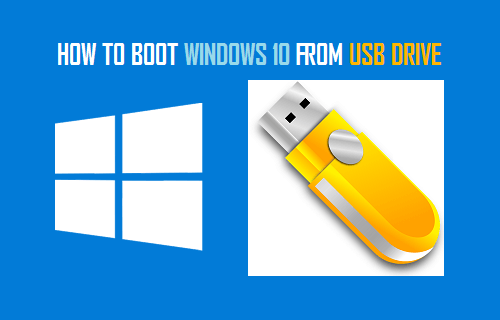 Boot Windows 10 Computer From USB Drive