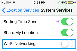 Disable Location Services For WiFi Networking on iPhone