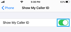 Show Caller ID on iPhone