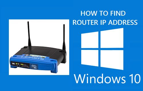 Find Router IP Address in Windows 10