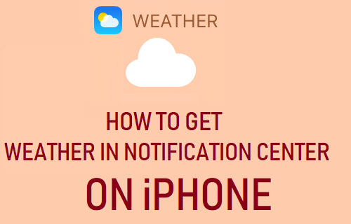 Get Weather in Notification Center on iPhone