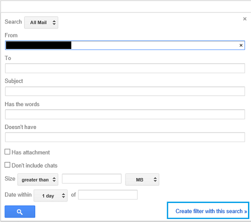 Gmail Search Mail Page