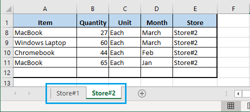 Pivot Table Source Data in Two Worksheets