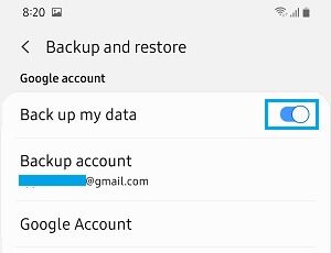 Automatically Backup Android Phone to Google
