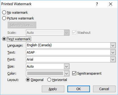 Design Custom Watermark Screen in Microsoft Word 2010 and 2007