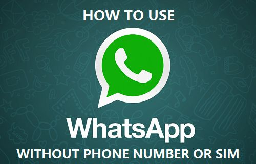 WhatsApp Without Phone Number or SIM