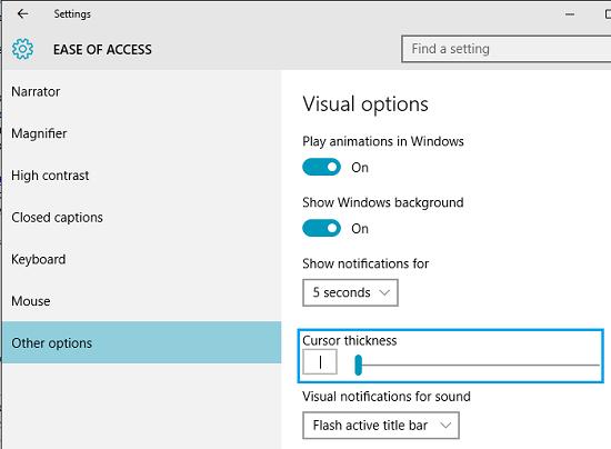 how to change window start option